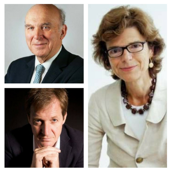 Vicky Pryce, Sir Vince Cable and Alastair Campbell
