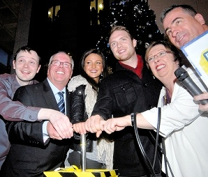 Coronation Street Stars Shine at Christmas Light Switch On