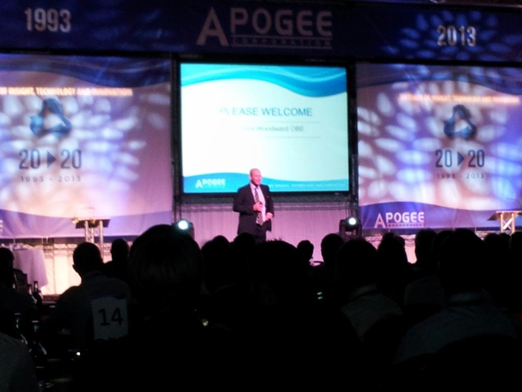 Sir Clive Woodward OBE Gives Motivational Talk to Team Apogee